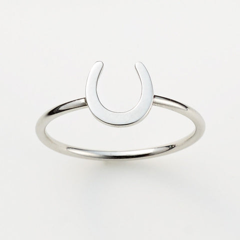 Pinkloulou Horseshoe Ring in Silver