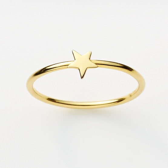 Pinkloulou Star Ring in Gold Plate