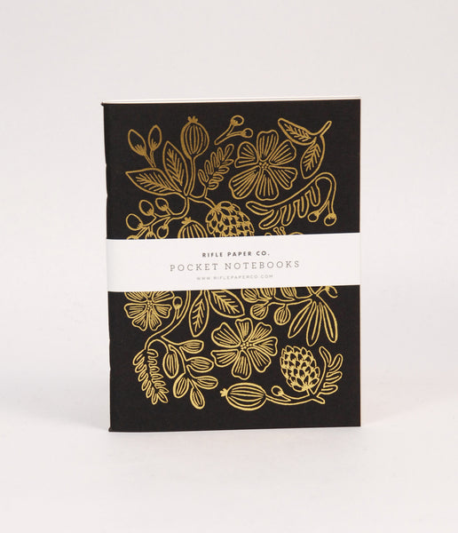Rifle Paper Co Gold Foil Pocket Journals - Set 2