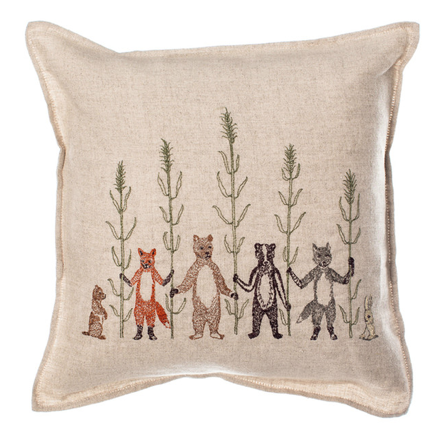 Coral & Tusk Harvest Embroidered Cushion