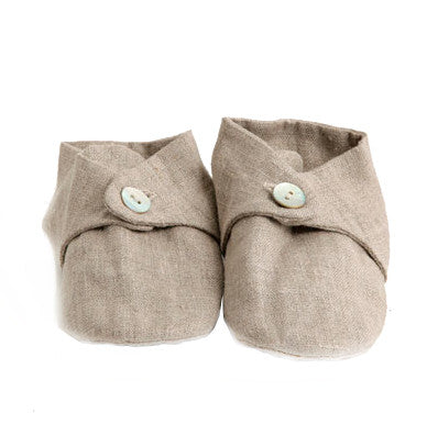 Fog Linen Natural Baby Booties