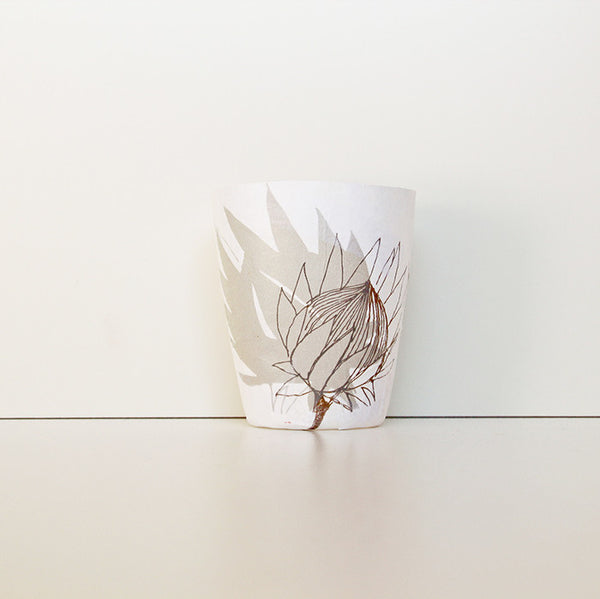 Wolanani Protea Mud Papier Mache Tealight Holders
