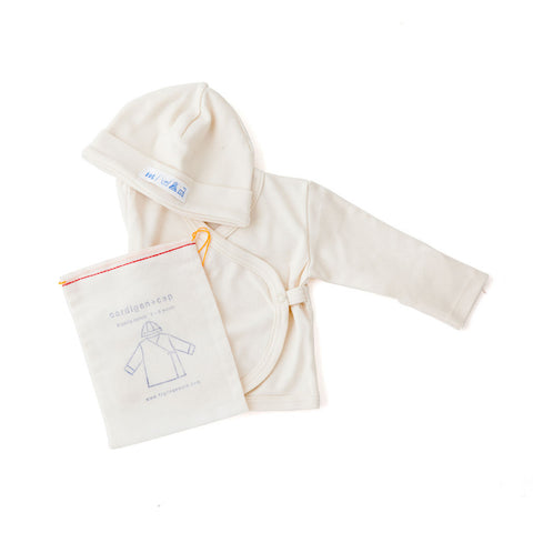 Fog Linen Organic Cotton Cardigan and Cap