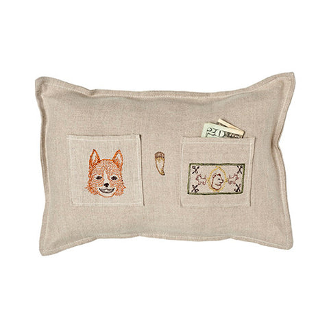 Coral & Tusk Fox Tooth Fairy Cushion