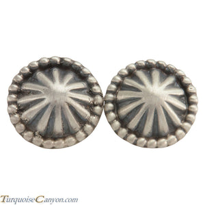 Navajo Native American Concho Style Silver Cuff Links by Lee SKU222763