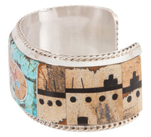 Load image into Gallery viewer, Navajo Native American Turquoise Bear Bracelet by Merle House SKU222912