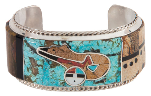 Navajo Native American Turquoise Bear Bracelet by Merle House SKU222912