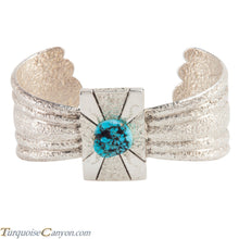 Load image into Gallery viewer, Navajo Native American Turquoise Tufa Cast Bracelet by Jason Begay SKU223731