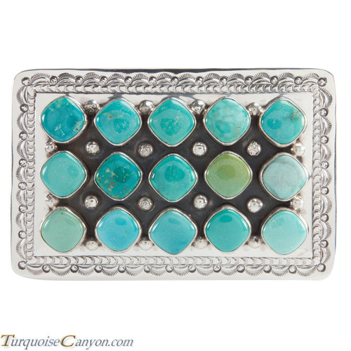 Native American Navajo Carico Lake Turquoise Belt Buckle by Beard SKU224093