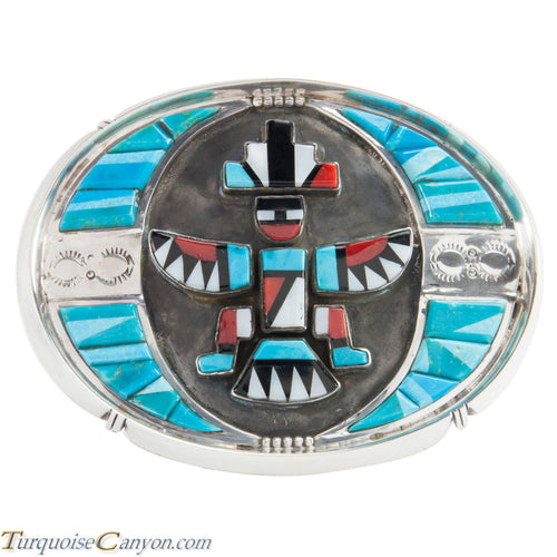 Navajo Native American Turquoise Knifewing Belt Buckle by Trujillo SKU224094