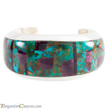 Load image into Gallery viewer, Navajo Native American Turquoise and Purple Shell Bracelet by Lee SKU224130