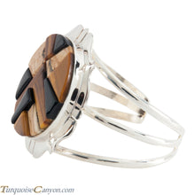 Load image into Gallery viewer, Navajo Native American Tiger Eye  and Onyx Bracelet by Lewis SKU224134
