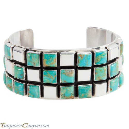 Navajo Native American Kingman Turquoise Bracelet by Rita Tom SKU224141
