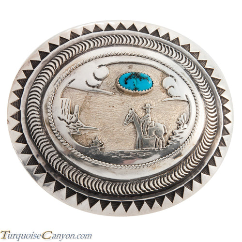 Navajo Native American Dead Pawn Turquoise Belt Buckle SKU224297