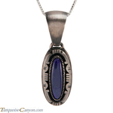 Load image into Gallery viewer, Navajo Native American Sugilite Pendant Necklace by Secatero SKU224314