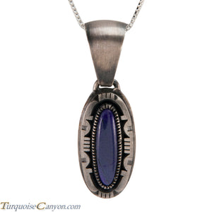Navajo Native American Sugilite Pendant Necklace by Secatero SKU224314