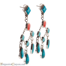 Load image into Gallery viewer, Navajo Native American Kingman Mine Turquoise Earrings by Willeto SKU224331