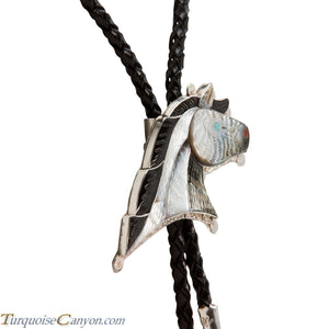 Zuni Native American Inlay Horse Bolo Tie by Eldred Martinez SKU224415