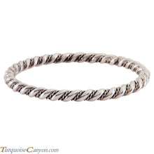 Load image into Gallery viewer, Navajo Native American Sterling Silver Bangle Bracelet SKU224541