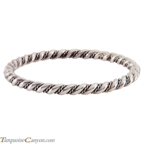 Navajo Native American Sterling Silver Bangle Bracelet SKU224541