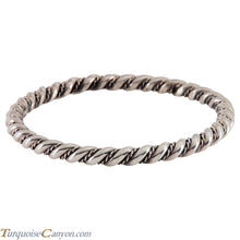 Load image into Gallery viewer, Navajo Native American Sterling Silver Bangle Bracelet SKU224542