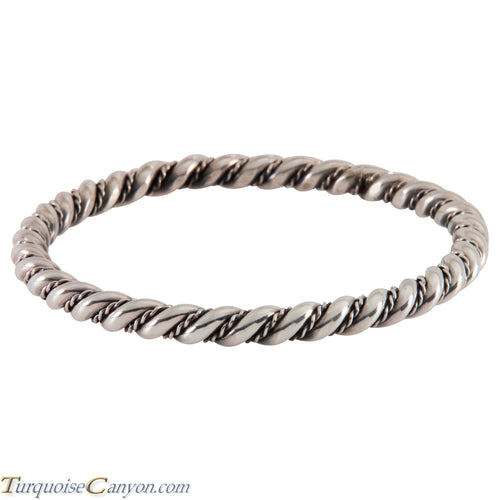 Navajo Native American Sterling Silver Bangle Bracelet SKU224542