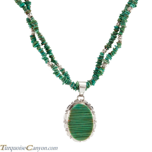 Navajo Native American Royston Turquoise Pendant and Necklace SKU224583