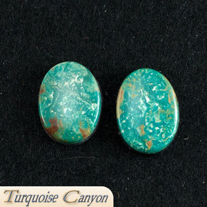 Set of Two Natural Kingman Mine Turquoise Loose Stones - 29.5 Carats SKU224679