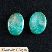 Load image into Gallery viewer, Set of Two Natural Kingman Mine Turquoise Loose Stones - 45.0 Carats SKU224681