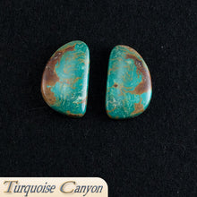Load image into Gallery viewer, Set of Two Natural Kingman Mine Turquoise Loose Stones - 52.0 Carats SKU224683
