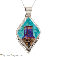 Load image into Gallery viewer, Navajo Native American Turquoise Pendant Necklace Alvin Yellowhorse SKU224712