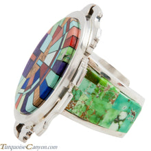 Load image into Gallery viewer, Navajo Native American Turquoise Ring Size 12 1/2 by Calvin Desson SKU224713