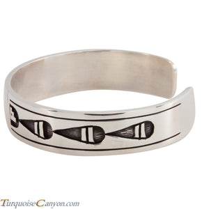 Hopi Native American Silver Overlay Bracelet by Clifton Mowa SKU224757