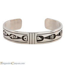 Load image into Gallery viewer, Hopi Native American Silver Overlay Bracelet by Clifton Mowa SKU224757