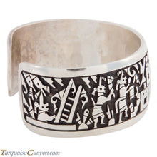 Load image into Gallery viewer, Hopi Native American Pueblo Silver Overlay Bracelet by Daren Silas SKU224762