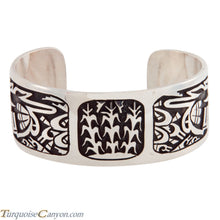 Load image into Gallery viewer, Hopi Native American Sterling Silver Overlay Bracelet by Daren Silas SKU224763