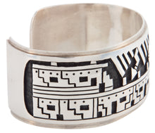 Load image into Gallery viewer, Hopi Native American Sterling Silver Pueblo Bracelet by Clifton Mowa SKU224774