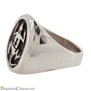 Hopi Native American Gecko Ring Size 12 by Joe Josytewa SKU224780