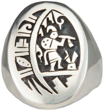 Load image into Gallery viewer, Hopi Native American Kokopelli Ring Size 13 1/2 by Daren Silas SKU224796
