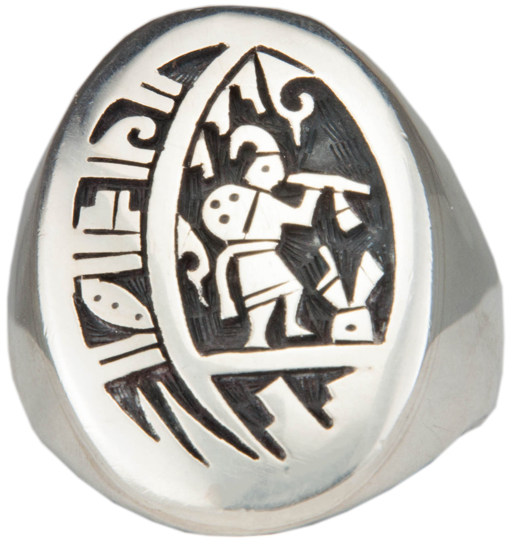 Hopi Native American Kokopelli Ring Size 13 1/2 by Daren Silas SKU224796