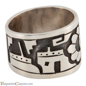 Hopi Native American Sunface Ring Size 10 1/2 by Loren Qumawunu SKU224803