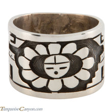 Load image into Gallery viewer, Hopi Native American Sunface Ring Size 10 1/2 by Loren Qumawunu SKU224803
