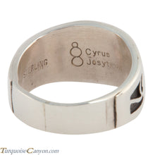Load image into Gallery viewer, Hopi Native American Bear Silver Ring Size 9 3/4 by Cyrus Josytewa SKU224815