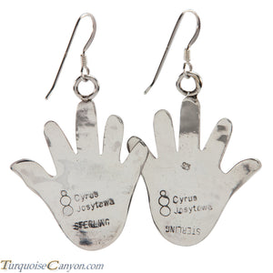 Hopi Native American Anasazi Hand Design Earrings by Cyrus Josytewa SKU224884
