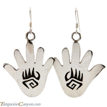 Load image into Gallery viewer, Hopi Native American Anasazi Hand Design Earrings by Cyrus Josytewa SKU224884