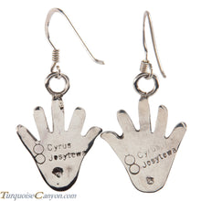 Load image into Gallery viewer, Hopi Native American Anasazi Hand Design Earrings by Cyrus Josytewa SKU224909