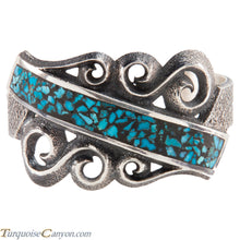 Load image into Gallery viewer, Navajo Native American Turquoise Tufa Cast Bracelet Aaron Anderson SKU224938