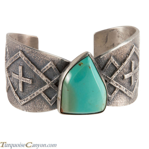 Navajo Native American Royston Turquoise Tufa Bracelet by Anderson SKU224949