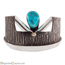Load image into Gallery viewer, Navajo Native American Kingman Turquoise Bracelet by Aaron Anderson SKU224952