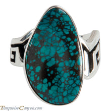 Load image into Gallery viewer, Navajo Native American Bisbee Mine Turquoise Ring Size 6 1/2 SKU225006